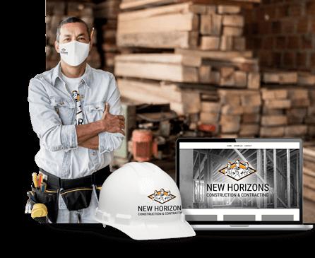 建筑工地的建筑工人